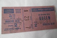 Queen Original 1978_Concert Ticket Stub_Jazz Tour - Madison Square Garden