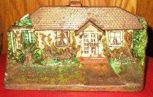 Antique Cast Iron House Cottage Door Stop