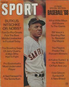 May 1968 Sport Magazine Willie Mays Giants Al Kaline Tigers Bob Gibson Cards HOF