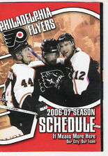 2006-07 PHILADELPHIA FLYERS NHL POCKET SCHEDULE BUD LIGHT SPONSOR FREE SHIPPING!