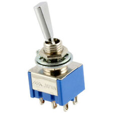 NEW Mini Toggle Switch ON-OFF-ON 3-way DPDT for Guitar/Bass, Japan Made - CHROME