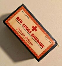 VINTAGE 1940s RED CROSS BANDAGE SEALED NOS 3 in x 10 Yds Rare -- 1688