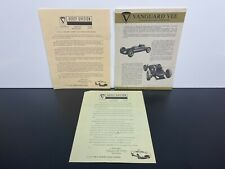 "RARE Vintage Original 1960s Bobsy ""VANGUARD VEE"" Race Car Sales BROCHURE Catalog"