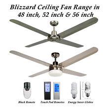 Blizzard 316 Marine Grade Stainless Steel Ceiling Fan Range