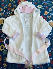 Baby Girls Princess Crown Lace Bathrobe White & Pink, Size 3T-4T