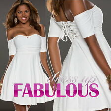 NEW SEXY OFF SHOULDER DRESS PARTY EVENING DANCE CLOTHING Size 2 4 6 8 10 XS S M