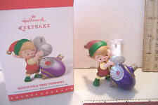~NORTH POLE TREE TRIMMERS~THIRD IN SERIES~2015 HALLMARK ORNAMENT~