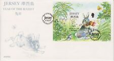 Unaddressed Jersey FDC First Day Cover 1999 Year of the Rabbit Sheet 10% off 5