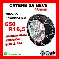 CATENE DA NEVE PER FURGONI E SUV OMOLOGATE 16MM MISURA PNEUMATICO 650 R16,5