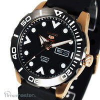 New SEIKO 5 SPORTS AUTOMATIC BLACK FACE DIVERS STYLE SRPA12J1