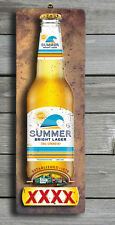 XXXX Summer 3D LOOK Rustic Wooden BAR Plaque / Sign (FREE POST) Stubby Image