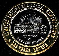 .999 $10 Silver Strike •Westward Ho Casino • Las Vegas • Flag (Regular Font)