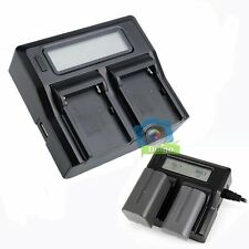 Digital LCD Dual Charger For Sony NP-F550 NP-F570 NP-F770 NP-F970 Batteries【UK】