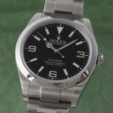 Rolex Explorer Oyster Stahl Automatik Herrenuhr Ref. 214270 NP: 5900,- €