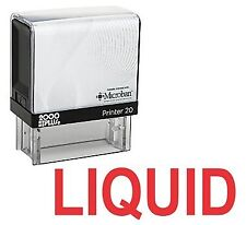LIQUID Office Self Inking Rubber Stamp - Red Ink (E-5307)