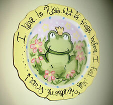 I Have To Kiss Alot Of Frogs Before I Find My Handsome Prince! Decorative Plate