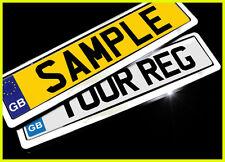 Chrome Silver Car License Number Licence Plate Holders Surrounds Frames 2pcs kit