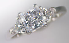 1.5 ct Princess Ring Side Trillions Top BrilliantCZ Imitation Moissanite Size 6