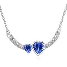 Betsy Morgan Hearts Crystal Necklace with Swarovski Elements For Someone Special
