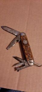 Remington UMC Antique Boy Scouts of America Brown Bone 3333 Pocket Knife