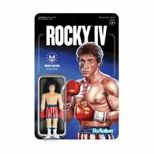 Rocky IV Rocky Balboa Flag Shorts Reaction Figure Super7 Mint On Card Stallone