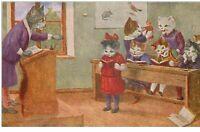 illustrateur . n°37434 . chats humanisés..thiele arthur .non signé.