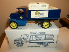 1927  Mack Stake Truck with Crates Bank - ERTL  Die Cast Metal Conoco Motor Oil