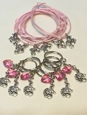 Unicorn Party Bag Fillers Pink Friendship Bracelets & Keyrings X 12 Pieces