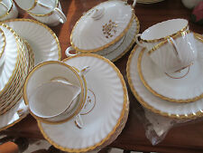 VINTAGE (1950s) ENGLISH MINTON FINE CHINA DINNER SUITE FOR 8 PEOPLE