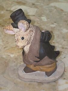 "VTG 3.5"" RAT On Skates Figurine Handpainted  Signed By Staton Numbered 115/7500"