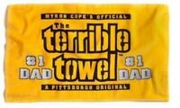 NEW! NFL Pittsburgh Steelers Father's Day Terrible Towel Fan #1 Dad Gift Gold