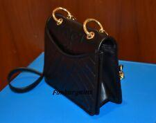 NWT Tory Burch Alexa Mini Quilted Leather Chain Crossbody Bag Black