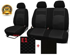 Tailored Fabric Seat Covers 2+1 For FORD TRANSIT CUSTOM TREND 2013 - on