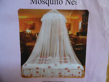 BE SAFE ROUND MOSQUITO NETTING FOR FOR TWIN FULL OR QUEEN BED OR FOR OUTSIDE USE