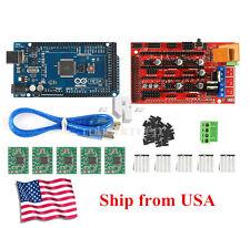 3D Printer Kit Mega 2560 + RAMPS 1.4 + 5X A4988 for Arduino RepRap US Shipping