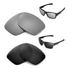 New WL Polarized Titanium + Black Lenses For Oakley Jupiter Squared Sunglasses