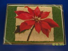 Poinsettia Flower Winter Christmas Holiday Party Gift Boxed Greeting Cards