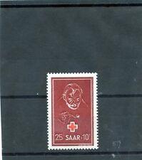 Saar Sc B75(Yt 271)*Vf Nh 1950 25F+10F Carmine & Brown Red $50