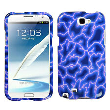 For Samsung Galaxy Note II 2 HARD Case Snap On Phone Cover Blue Lightning