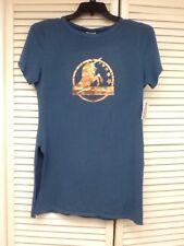 "Lularoe Blue ""Carol"" Promo Supply T-shirt Gold Metallic Unicorn Medium, NWT"