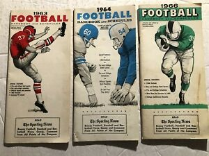 1963 1964 66 College PRO Football Handbook PREVIEW Records Stats SCHEDULES Set 3