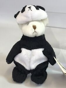 "Ganz Wee Bear Village 5"" Bamboo Teddy Bear Panda Bear Plush Costume Dress Up"