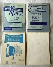 (4) Flute / Piccolo student workbook, songbooks, Rubank, Kinyon