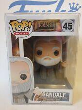Funko Pop The Hobbit Gandalf Hatless #45 Vinyl Figure LOTR & protector - Vaulted