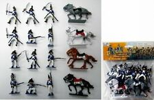 Napoleonic Waterloo French Soldiers & Cavalry Painted Figures Set 45 NEW!