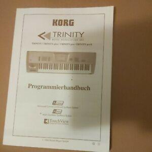 Original Korg Trinity / Trinity plus / Trinity pro /Trinity ProX Programmierbuch