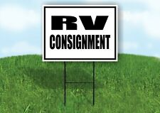 Rv Consignment Black Border Yard Sign Road With Stand Lawn Sign