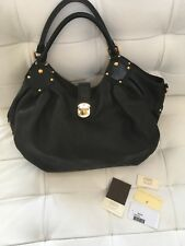 Louis Vuitton Mahina L Bag Black Leather Gold Hardware Great Condition