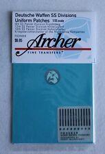 Archer 1/35 German Waffen-SS Division Uniform Patches WWII (12 Figures) FG35059