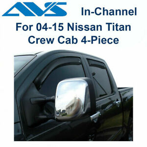 AVS Rain Guards 4Pc In-Channel Window Vent Visor For 04-15 Nissan Titan - 194858